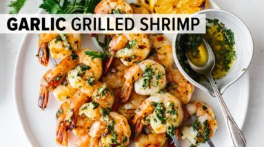BEST GRILLED SHRIMP RECIPE | garlic grilled shrimp skewers - easy!