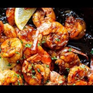 Browned Butter Honey Garlic Shrimp