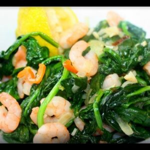 Caribbean Spinach With Shrimp