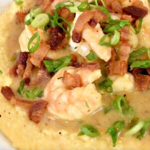 Shrimp and Cheese Grits Recipe - Good Ol' Southern Comfort Food | Cooking With Carolyn