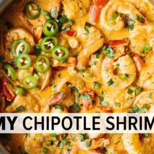 CREAMY CHIPOTLE SHRIMP | best easy shrimp recipe (low-carb & keto)