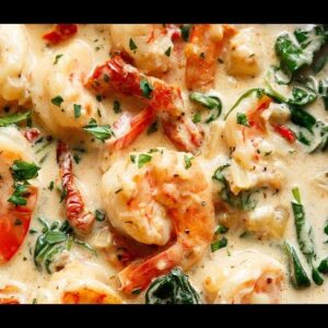 Creamy Garlic Butter Tuscan Shrimp