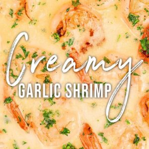 CREAMY GARLIC SHRIMP | EASY DINNER RECIPE