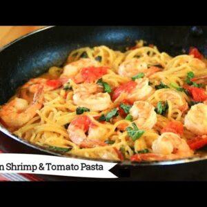 One Pan Shrimp and Tomato Pasta