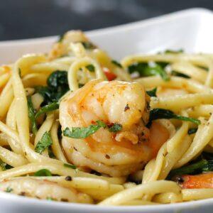 One-Pot Lemon Garlic Shrimp Pasta
