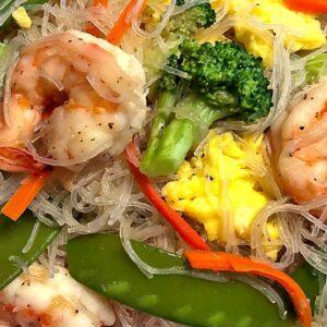 Shrimp Rice Noodles ( Easy Shrimp Chow Mei Fun )