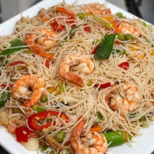 Stir fry Rice Noodles with Shrimp | 10 minute dinner recipes
