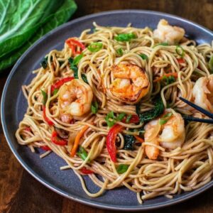 THE BEST SHRIMP LO MEIN RECIPE!
